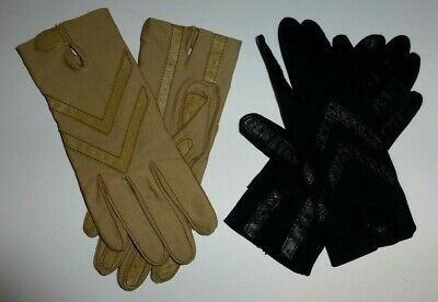 Isotoner Womens Stretch Gloves 2 Pair Black Beige One Size Cold Weather Winter
