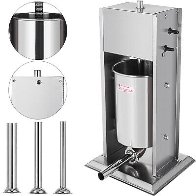 New Stainless Steel 15L Stuffer Maker Machine Commercial Kitchen Sausage Filler