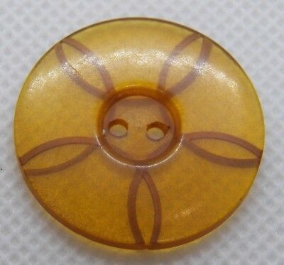 """Vintage Bakelite Honey with Etched Spiral Loops Button 1"""""""
