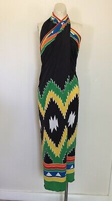 Womens Vintage 70s Made In Italy Beach Dress Wrap Skirt S/M