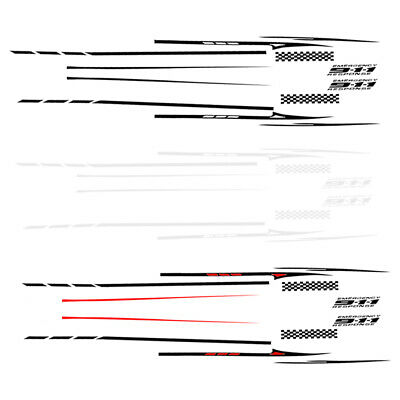 2x Universal Sports Styling Stripe Graphic Stickers Truck Car Body Side Door