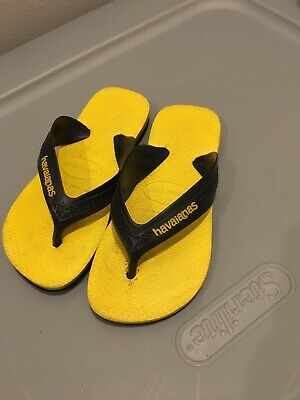 5f3c3be65 Havaianas Boys Sandal Flip Flop Yellow Black 27 28 BR - 11 12 USA