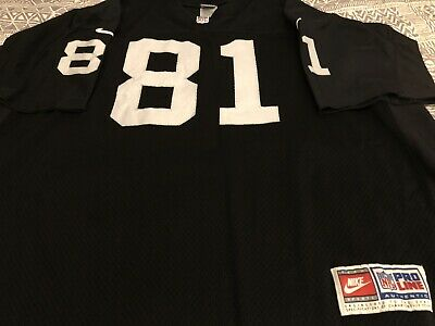 New OAKLAND RAIDERS JERSEY Nike Vtg 90s Tim Brown Throwback NFL Black  for sale