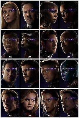 2019 Avengers Endgame AVG4 Marvel Film Role Characters Movie Poster Art Decor
