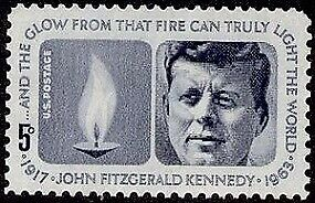 1964 Vintage JFK John F. Kennedy Eternal Flame Unused USPS Stamp FAST Shipping!