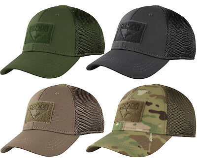 CONDOR 161140 TACTICAL Flex Mesh Fit Military Combat Fitted Baseball Cap Hat