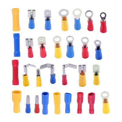 480 x Insulated Assorted Electrical Wire Terminal Crimp Connector Spade Set