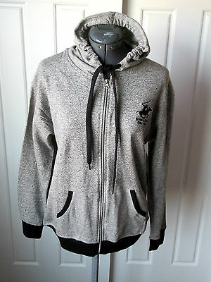 BEVERLY HILLS POLO CLUB GREY ZIP UP HOODIE SIZE LARGE 16//18 NEW £59.99