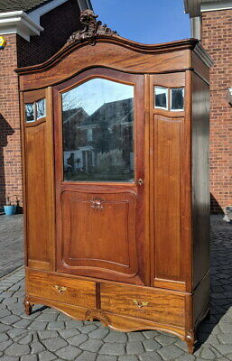 Antique French Carved  Armoire Wardrobe