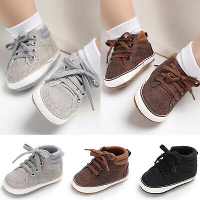 Casual Newborn Baby Boys Pram Shoes Toddler Pre Walker Sneakers Trainers 0-18M