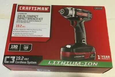 New Craftsman 3 8 In 19 2v Impact Wrench Kit 36558 W Charger
