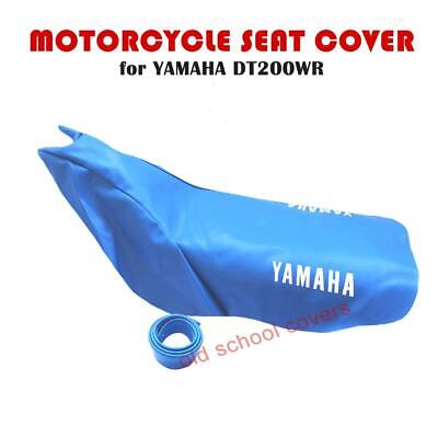 Yamaha Dt200Wr Dt 200 Wr Pale Blue Seat Cover & Strap With White Logos To Sides