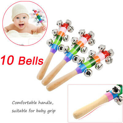 Baby Musical Instruments Toy Rattle Hand Bell Toys for Children Kids Game Gift W