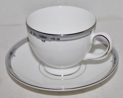 Wedgewood Amherst  Cup and Saucer - Platinum Trim - England - Mint