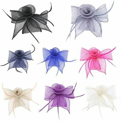 Ladies Fancy Looped Feather Comb Fascinator Wedding Party Day Races Royal Ascot
