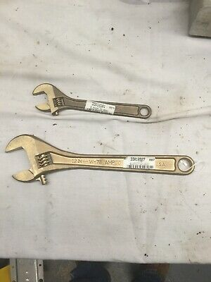 "AMPCO NON SPARKING CRESENT WRENCHES NEW W-73 W-71 12"" 8l"