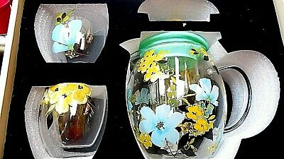 Glass Teapot Set with Infuser and 2 Cups New in Box