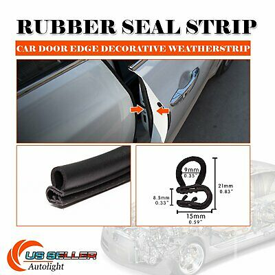 10ft Rubber Seal Weatherstrip Molding Trim Waterproof Defend Car Parts Accessory