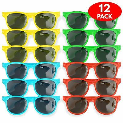 12 Kids Sunglasses Boys Girls Shades Multi Coloured Children Vintage Holiday Toy