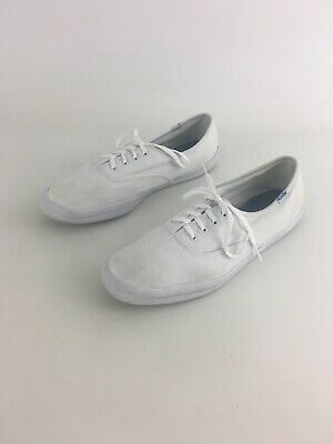 dce96806f585 KEDS Womens White Canvas Solid Lace Up Oxford Sneakers US Sz 10 EU Sz 41