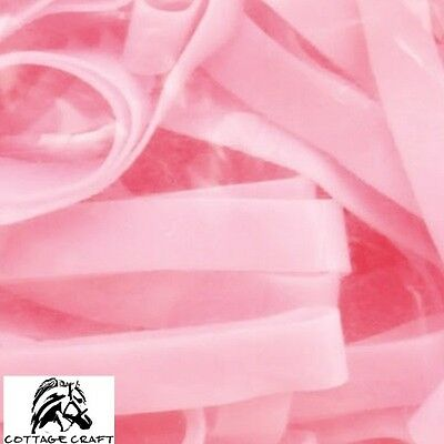 Cottage Craft Magic Plaiting Bands – 500 pack – SILICONE – Super Stretchy – PINK