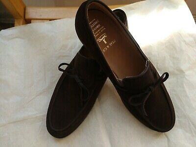 9935d1e6815 Crockett   Jones for Brooks Brothers(Peal Co) Swade Leather sole Tie  loafers 11D