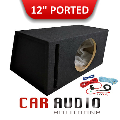 "Brand new 12"" Inch 30cm Ported Car Subwoofer Empty MDF Bass Box Heavy Duty 2019"