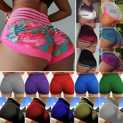1368f5ff8d705 Women Booty Shorts Compression Yoga Pants Sports Gym Fitness Running Butt  Lift