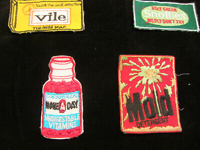 GROUP OF FOUR WACKY PACK PATCHES vintage 70s SEW ON PATCHES  NOS