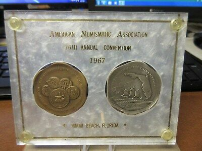 1967 ANA 76th Anv. Miami Beach FL Convention Official 2 Medal set # 193
