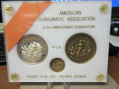 1977 ANA 86th Anv. Atlanta GA Convention Official 3 Medal set # 125