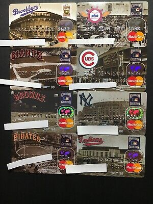 8 Expired Credit Cards For Collectors - Cooperstown Collection Lot 2 Rare