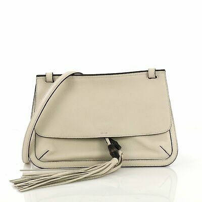 99c6ea7fd9b GUCCI BAMBOO DAILY Flap Bag Leather -  925.00