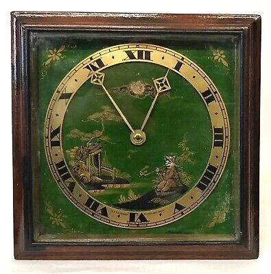 Elliott Of London Chinoiserie Strut Clock Retailed By J E Caldwell & Co