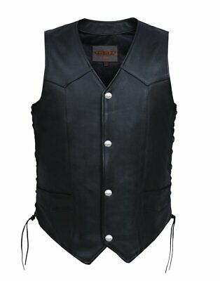 Men's Leather Vest With Buffalo Nickles 0331.00