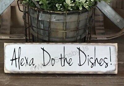 Rustic Wood Kitchen Sign WASH YOUR DAMN DISHES Farmhouse decor funny