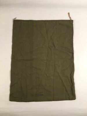 Vintage WWII Era US Army Green Herringbone Cotton Twill Barracks Laundry Bag HBT
