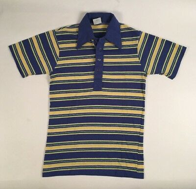 0d1a557424 Vintage 80s JCPenney Striped Polo Golf Collared Shirt SZ Men's XS/SM Retro