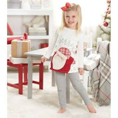 Mud Pie H7 Christmas Baby Girl Santa Tunic & Leggings Set 1112357 Choose Size