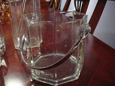 Vintage Arcoroc Octime Glass Ice Bucket France