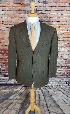2e52f46d4b4f8 Norman Hilton 42S Grey Herringbone 3 Button TWEED Wool Sport Coat Blazer  Jacket