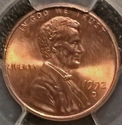 1992-D Lincoln Cent   PCGS MS67RD  Free shipping!