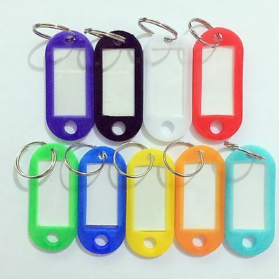 NEW Key Ring Tags - Mixed Colours - Choose from 4 12, 20, 50, 100, 200 tag