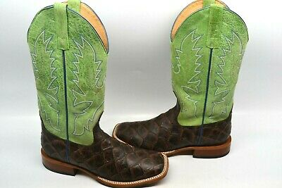 c3735cce934 HORSE POWER MEN'S Chocolate Filet Of Fish Print Western Boot Square Toe 8 D