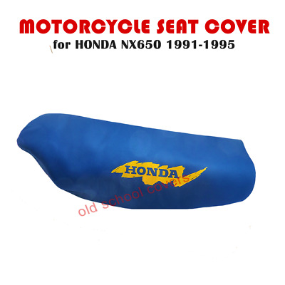 Honda Nx650 Nx 650 Dominator 1991-1995 Blue Seat Cover With Yellow Logo