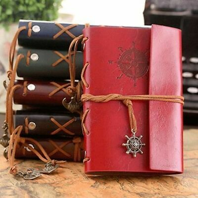 Vintage Retro PU Leather Journal Travel Notepad Notebook Blank Diary Sketchbook