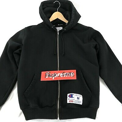 f87b9c557dda Supreme X Champion Arc Logo Black Medium Zip Hoodie Used (From Original  Drop)