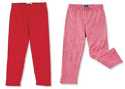 Mud Pie MH6 Sparkle Christmas Baby Girl Red Or Pink Gold Dot Leggings 1172141