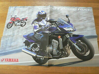 Y108A-Yamaha Poster Brochure  Fzs1000 Fazer And Yzf-R1 Dutch 8 Pages Folded
