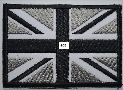 British Embroidered Iron On UK Flag Patch Sew On Union Jack Badge Applique